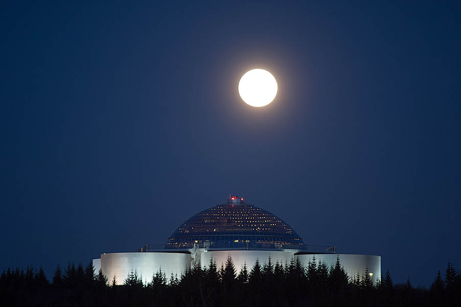 Supermoon 2012 over the Perl/Reykjavik